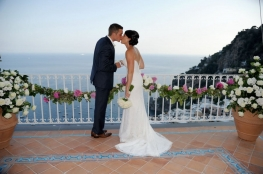 Special civil wedding with sea views